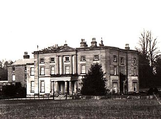 Appleby Magna - Appleby Hall with the old Appleby House obscured. Built by George Moore in 1836 - now demolished.