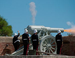 64 pounder gun firing - fort glanville.jpg