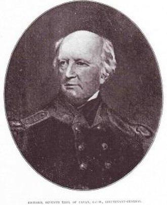 58th (Rutlandshire) Regiment of Foot - Richard Lambart, 7th Earl of Cavan, Colonel of the regiment during the Napoleonic Wars
