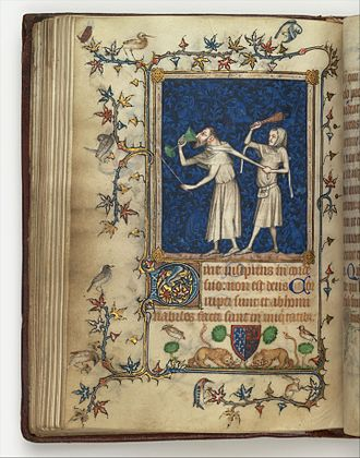 Psalter of Bonne de Luxembourg - The Fool Hath said in his heart, There is no God, folio 83v