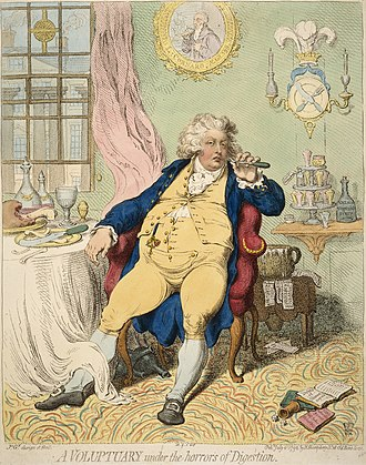 Charles James Fox - A Gillray caricature of the Prince of Wales, an ally of Fox