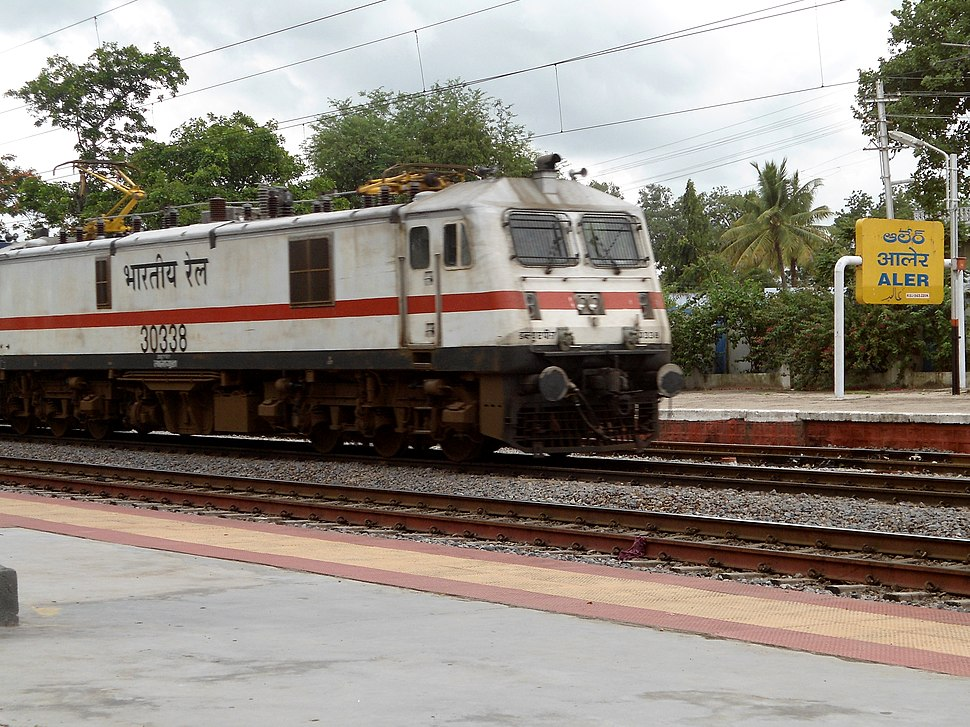 AP Express crossing Aler Railway Station