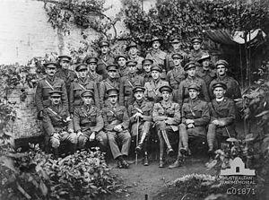 60th Battalion (Australia) - Portrait of 60th Battalion officers, c. 1917