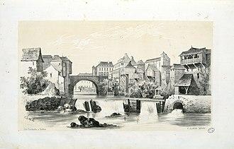 Oloron-Sainte-Marie - Oloron in 1843, by Eugène de Malbos