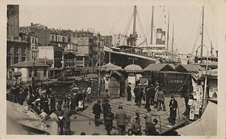 SS Germanic (1874) - Gulcemal, in Karaköy, Istanbul. (Estimated photo date between 1928-1937)
