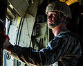 A U.S. Army jumpmaster checks the door on a C-130 Hercules aircraft at Aberdeen Proving Grounds, Md., Nov. 13, 2013 131113-A-BO858-270.jpg