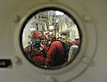 A U.S. Coast Guard fire team aboard the maritime security cutter USCGC Bertholf (WMSL 750) prepares to enter an area during a gas leak drill as part of Arctic Shield 2012 in the Arctic Ocean 120829-G-VS714-086.jpg