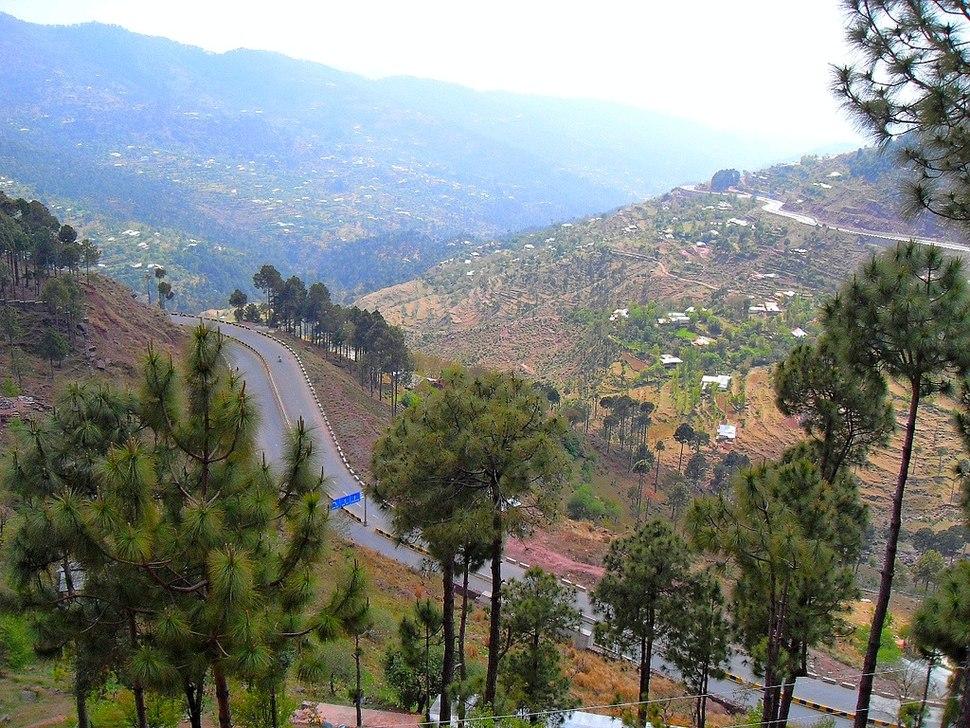 A beautiful view of Murree, Pakistan