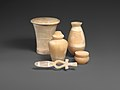A group of stone vessels from a tomb at Haraga MET DP-744-001.jpg
