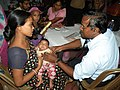 A health camp organised by DFP, during Bharat Nirman Public Information Campaign, at Kulpi 24 Pgs, in West Bengal on October 30, 2010.jpg