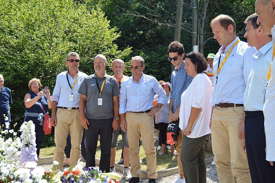 A la memoria de Fabio Casartelli. Col d'Aspet. Pireneés.Tour de France.
