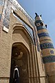 A man is looking at World Monuments Watch plate - Tomb of Bibi Jawindi.jpg