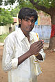 A tamil youth with greeting gesture.JPG
