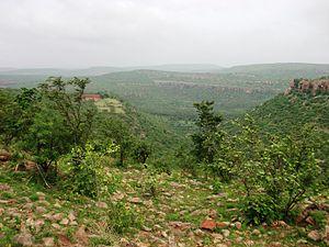 Gokak - Image: A view from nearby Kadabgatti hill