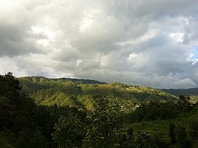 A view of Shivapuri national park from Sundarijal.jpg