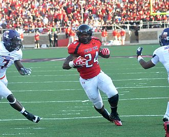 2012 Texas Tech Red Raiders football team - Image: Aaa eric stephens touchdown vs nw state 2