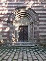 Abbey church main gate in Bélapátfalva, 2016 Hungary.jpg
