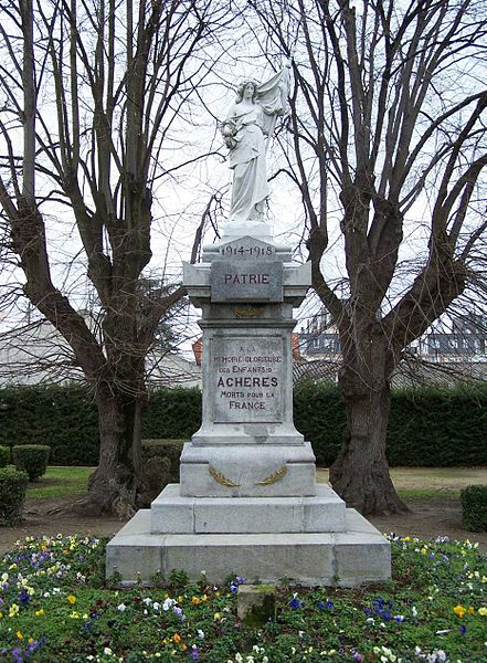 War memorial of Achères (Yvelines, France)