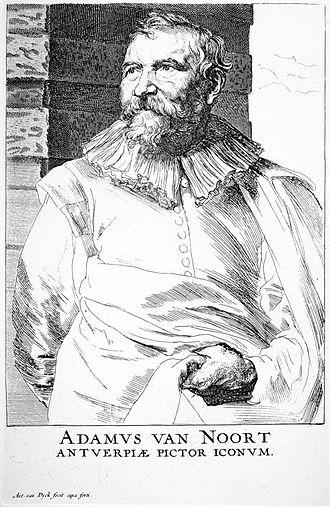 Adam van Noort - Adam van Noort by Anthony van Dyck