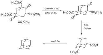 Adamantane - Image: Adamantane synthesis by Prelog