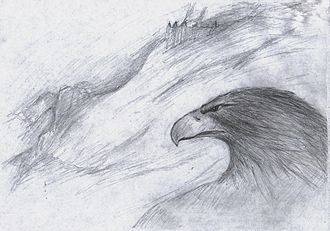 Eagle (Middle-earth) - Image: Adler Gwaihir
