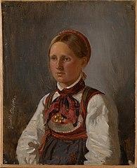 Portrait of Gunild Olsdatter from Tinn