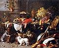Adriaen van Utrecht - Großes Stillleben mit Hund und Katze.jpg