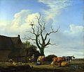 Adriaen van de Velde - Een boerderij met een dode boom (1658).jpg