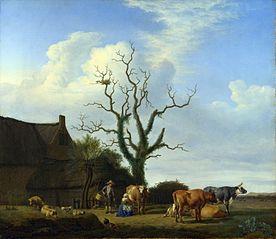 A Farm with a Dead Tree