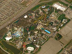 View of Canada's Wonderland from an airplane in 2011.