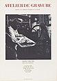 Affiche van drukkerij Atelier 63 te Parijs Atelier de gravure ((..)) Atelier 63 Joelle Serve (titel op object), RP-P-2015-26-2103.jpg