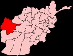 Kort som viser hvor i Afghanistan Herat ligger