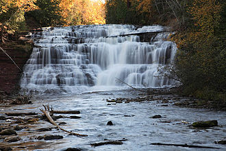 Agate Falls Scenic Site - Agate Falls on the Middle Branch