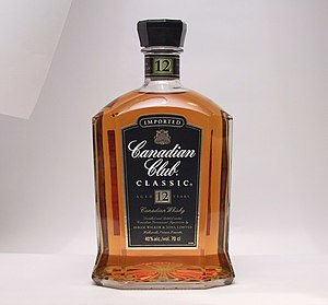 Canadian whisky - A bottle of Canadian Club, a Canadian whisky