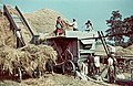 Agriculture, colorful, threshing machine, harvest Fortepan 27253-2.jpg