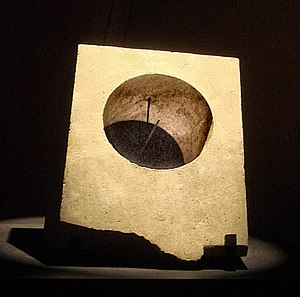 Ancient Greek astronomy - Greek equatorial sun dial, Ai-Khanoum, Afghanistan 3rd-2nd century BC.