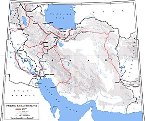 Azerbaijan in World War II - Map of the route