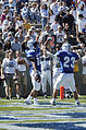 Air Force halfback Chad Hall helps running back Justin Handley celebrate his first Falcon touchdown.jpg