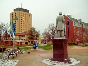 Akron, Ohio - University of Akron campus