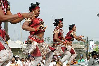 African dance - Dancers in Akwa Ibom, Nigeria