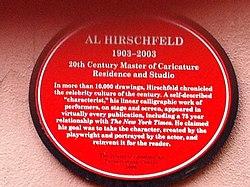 Al hirschfield plaque