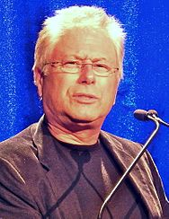 Photograph of composer Alan Menken attending a guild event.