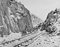 Alaska Railroad line near Mile 83 near Turnagain Arm, Alaska, December 1917 (AL+CA 5275).jpg