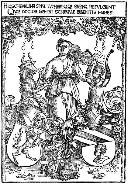 Datei:Albrecht Dürer Wappen der Scheurl und Tucher.jpg