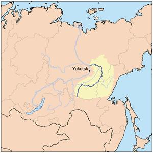 Aldan River - Image: Aldanrivermap