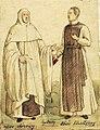 Aleksander Lesser - Dwóch cystersów - jeden w ubiorze chórowym, drugi w klasztornym.jpg