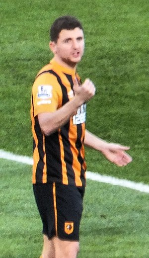 Alex Bruce (footballer, born 1984) - Bruce playing for Hull City in 2014