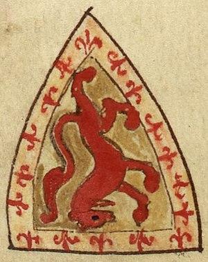 Alexander II of Scotland - Image: Alexander II, King of Scotland, coat of arms (Royal MS 14 C VII, 146v)