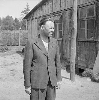Alexander Piorkowski - Piorkowski under British arrest at Westertimke near Bremen