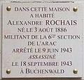 Alexandre Rochais plaque - Place Saint Michel, Paris 6.jpg